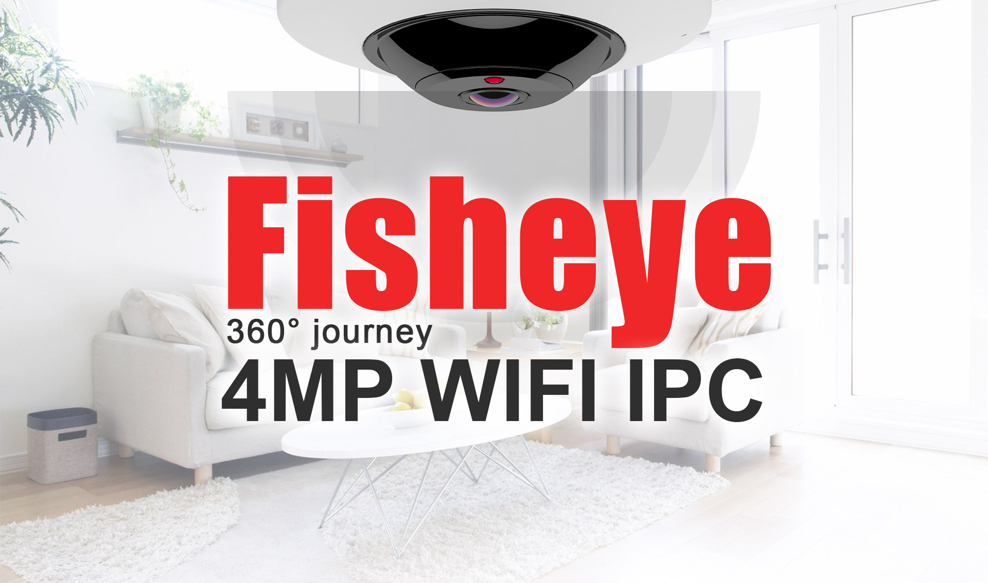 Longse 4MP Wi-Fi Fisheye Camera, 360°journey with new app - Longse